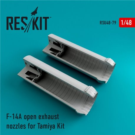 RESKIT RSU48-0079 1/48 F-14A Tomcat open exhaust nozzles for Tamiya