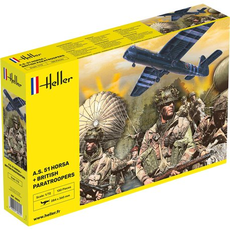 HELLER 30313 1/72 A.S. 51 Horsa + Paratroopers