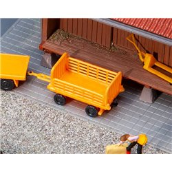 FALLER 180991 1/87 2 Baggage trolleys, orange
