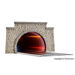 VIESSMANN 5097 1/87 Road tunnel classic, with LED mirroring- and depth effect