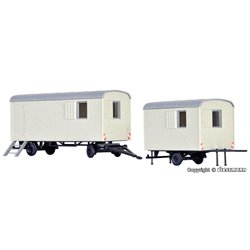 KIBRI 10278 1/87 Construction trailer, 2 pieces