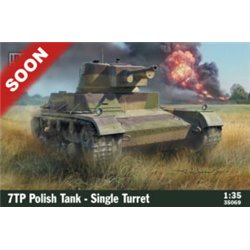 IBG MODELS 35069 1/35 7TP Polish Tank - Single Turret