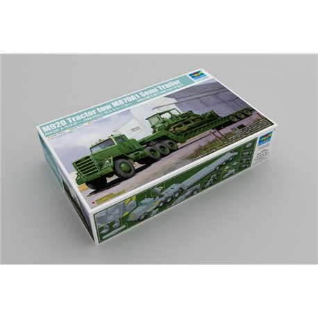 TRUMPETER 01078 1/35 M920 Tractor tow M870A1 Semi Trailer