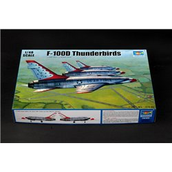 TRUMPETER 02822 1/48 F-100D in Thunderbirds livery