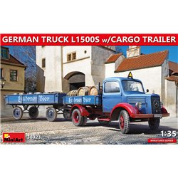 MINIART 38023 1/35 German Truck L1500S w/Cargo Trailer