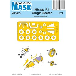 SPECIAL MASK M72013 1/72 Mirage F.1 Single Seater Mask