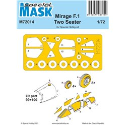SPECIAL MASK M72014 1/72 Mirage F.1 Two Seater Mask