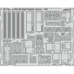EDUARD 491168 1/48 Ju 88C-6b Night Fighter interior