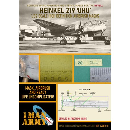 1 MAN ARMY 32DET015 1/32 MASK for Heinkel He219 UHU