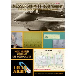 1 MAN ARMY 32DET018 1/32 MASK for Messerschmitt 163B Komet