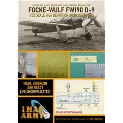 1 MAN ARMY 32DET026 1/32 MASK for Focke-Wulf FW190 D-9