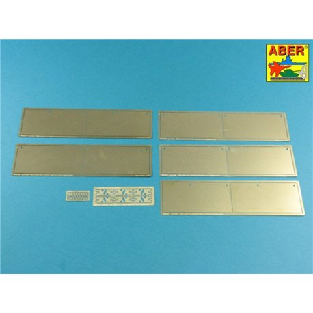 ABER 16018 1/16 Pz.Kpfw.V, Ausf.G (Sd.Kfz.171) Panther G - Vol.4 - Side Skirts for Tamiya