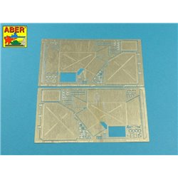 ABER 16019 1/16 Pz.Kpfw.V, Ausf.G (Sd.Kfz.171) Panther G - Vol.5 - Rear tool boxes for Tamiya