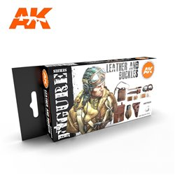 AK INTERACTIVE AK11620 LEATHER AND BUCKLES SET