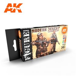 AK INTERACTIVE AK11630 MODERN DESERT UNIFORM COLORS SET