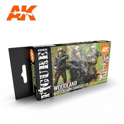 AK INTERACTIVE AK11632 MODERN WOODLAND AND FLECKTARN CAMOUFLAGES SET