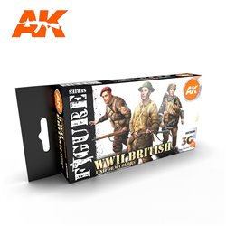 AK INTERACTIVE AK11636 WWII BRITISH UNIFORM COLORS SET