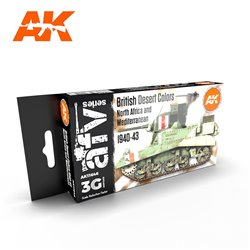 AK INTERACTIVE AK11646 BRITISH DESERT NORTH AFRICA AND MEDITERRANEAN SET