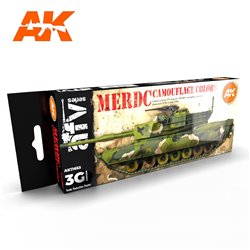 AK INTERACTIVE AK11653 MERDC CAMOUFLAGE COLORS SET