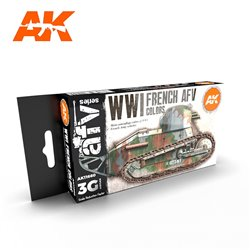 AK INTERACTIVE AK11660 WWI FRENCH COLORS SET