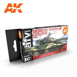 AK INTERACTIVE AK11662 MODERN RUSSIAN COLOURS VOL 1 SET