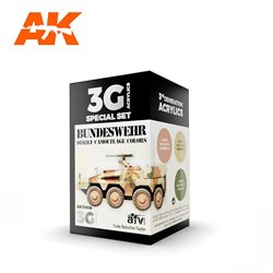 AK INTERACTIVE AK11666 BUNDESWEHR DESERT COLORS SET