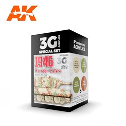AK INTERACTIVE AK11669 PANZER COLORS 1946 SET