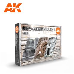 AK INTERACTIVE AK11674 OLD & WEATHERED WOOD VOL2 SET