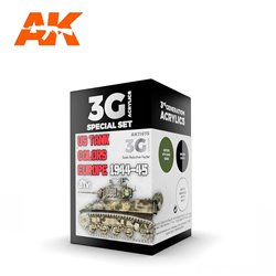AK INTERACTIVE AK11675 US TANK COLORS EUROPE 1944-45 SET