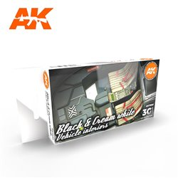 AK INTERACTIVE AK11683 BLACK INTERIOR AND CREAM WHITE SET