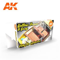 AK INTERACTIVE AK11684 GREY YELLOW BROWN INTERIORS SET