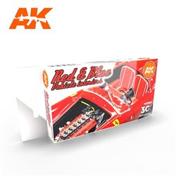 AK INTERACTIVE AK11685 RED AND BLUE INTERIOR COLORS SET