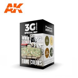 AK INTERACTIVE AK11686 WWI GERMAN TANK COLORS SET