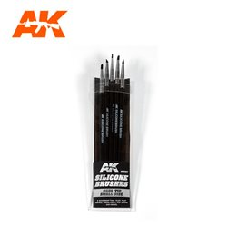 AK INTERACTIVE AK9087 SILICONE BRUSHES HARD TIP SMALL
