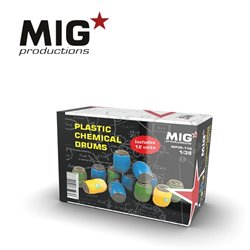 MIG PRODUCTIONS MP35-110 1/35 PLASTIC CHEMICAL DRUMS