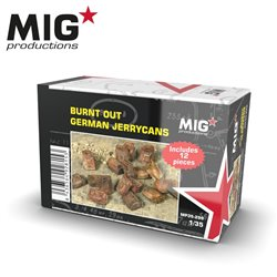 MIG PRODUCTIONS MP35-299 1/35 BURNT OUT GERMAN JERRYCANS