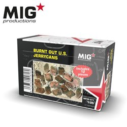 MIG PRODUCTIONS MP35-371 1/35 BURNT OUT U.S JERRYCANS