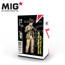 MIG PRODUCTIONS MP35-423 1/35 BRITISH TANK CREWMAN EATING – NORTH AFRICA 1942