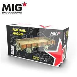 MIG PRODUCTIONS MP72-351 1/72 FLAT RAIL WAGON RESIN KIT
