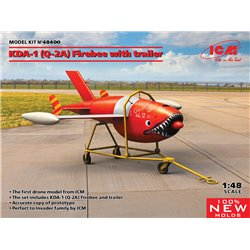 ICM 48400 1/48 Q-2A (KDA-1) Firebee with trailer (1 airplane and trailer)
