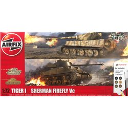 AIRFIX A50186 1/72 Tiger 1 vs Sherman Firefly Classic Conflict