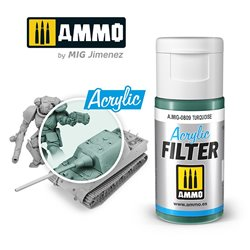 AMMO BY MIG A.MIG-0809 ACRYLIC FILTER Turquoise 15 ml.