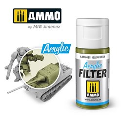 AMMO BY MIG A.MIG-0811 ACRYLIC FILTER Yellow Green 15 ml.