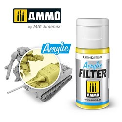 AMMO BY MIG A.MIG-0825 ACRYLIC FILTER Yellow 15 ml.