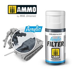 AMMO BY MIG A.MIG-0829 ACRYLIC FILTER Pale Blue 15 ml.