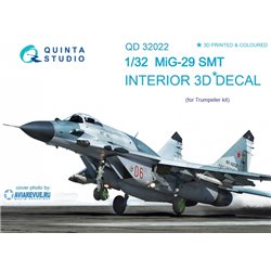 QUINTA STUDIO QD32022 1/32 MiG-29SMT 3D-Printed & coloured Interior on decal paper (for Trumpeter kit)