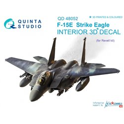 QUINTA STUDIO QD48052 1/48 F-15E 3D-Printed & coloured Interior on decal paper (for Revell kit)