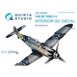 QUINTA STUDIO QD48095 1/48 Bf 109G-14 3D-Printed & coloured Interior on decal paper (for Eduard kit)