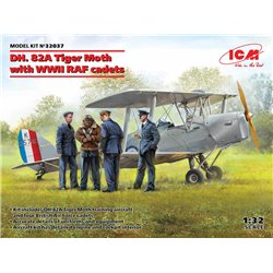 ICM 32037 1/32 DH. 82A Tiger Moth with WWII RAF cadets