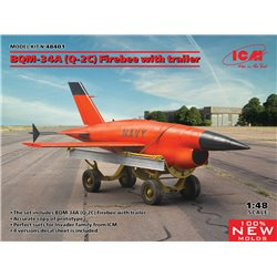 ICM 48401 1/48 BQM-34A (Q-2C) Firebee with trailer (1 airplane and trailer)